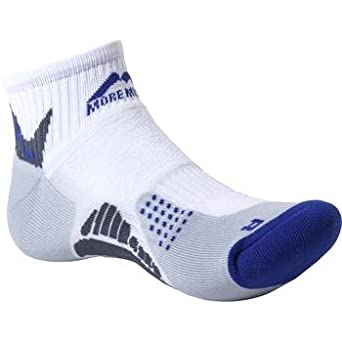 Adults More Mile cushioned SAN DIEGO running sock White/Dark Blue