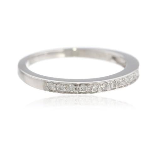 [シュエル] Chuell 14K ホワイトゴールドダイヤモンドリング(1/5 Cttw アイJ カラー I1 I2 クラリティ) サイズ 13(US 7) 【並行輸入品】