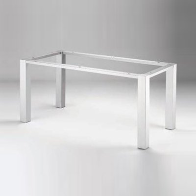 Tischgestell_80 196x81 cm, Alu-Optik