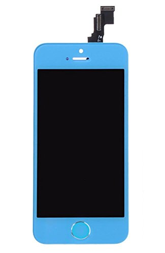Group Vertical ® Light Blue Baby Blue Lcd Touch Screen Digitizer Replacement Assembly For Iphone 5S W Home Button