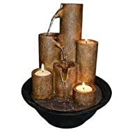 Alpine Tabletop Fountain With Three Candles Jardin, Pelouse, Entretien