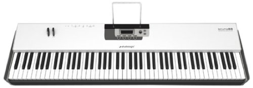 Studiologic Acuna 88 Lightweight Hammer Action Keyboard Controller For Use With Ipads, 88 Keys