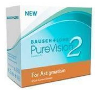 Bausch & Lomb Purevision 2 Astigmatism (6 Lenses/Box) Monthly Day & Night