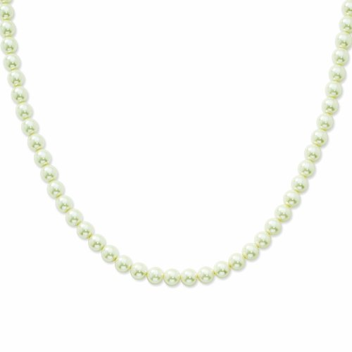 8mm Cultura Glass Pearl Single Strand 24in Necklace