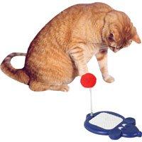 Mouse Pom Pom Cat Toy - 8 12 in. x 5 12 in.