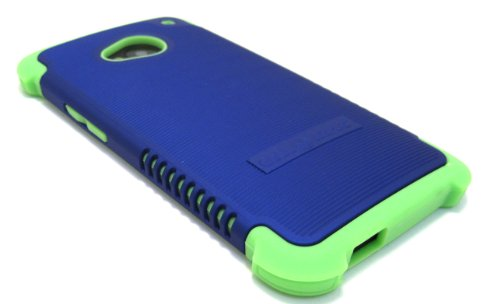 Cell-Nerds Nerdshield Grip Case Cover For The Htc One M7 And Pn07 (2013) - Cell-Nerds Packaging (Blue On Green)