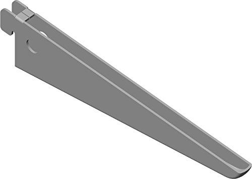 Element System U-Träger Regalträger 2-reihig, 2 Stück, 5 Abmessungen, 3 farben, lange 17 cm für Regalsystem, Wandschiene, weißaluminium, 18133-00030