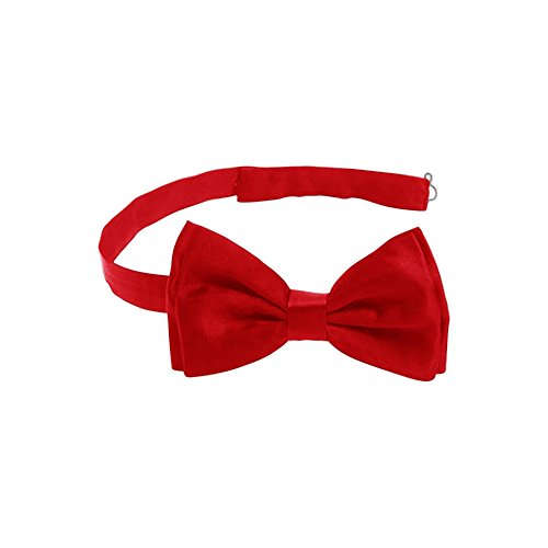 Harvest Male Men's Pre-tied Adjustable Length Formal Tuxedo Solid Color Satin Bow Tie (Red) (Mister Proper compare prices)