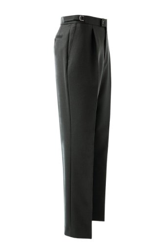 Formal Herringbone Trouser 42inch Waist 31inch, Black (A)