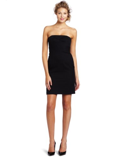 Trina Turk Women's Elvia Strapless Dress, Black, 4