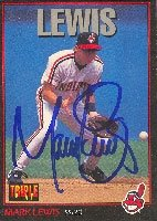 Mark Lewis Cleveland Indians 1993 Leaf Triple Play Autographed Hand Signed Trading... by Hall+of+Fame+Memorabilia