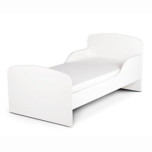 PriceRightHome Plain White Design MDF Toddler Bed no storage