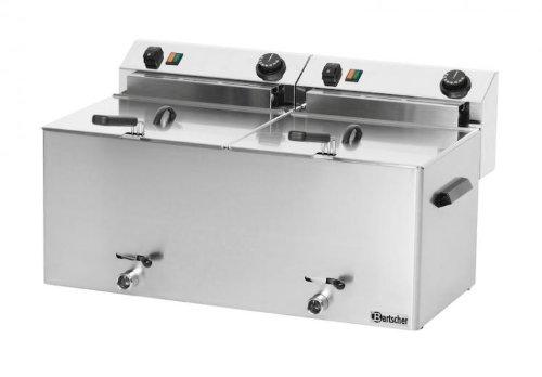 Friggitrice elettrica professionale 10+10 litri con scarico - Bartscher 162910