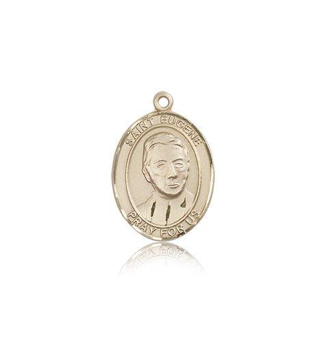 14kt Gold St. Eugene de Mazenod Medal loverjewelry 11x13mm 14kt 2t018