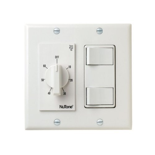 Nutone VS67WH 60 Min Timer/2 On/Off Switches (White) Bath fan control (Nutone Electric Wall Heater compare prices)