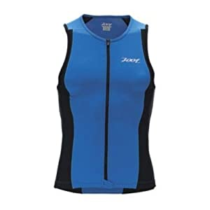 Zoot Sports Mens Performance Tri Full Zip Tank by Zoot