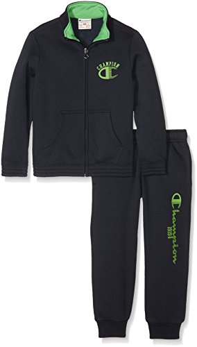 champion-bambino-tuta-auth-light-fleece-back-blu-verde-xl-304402-f16