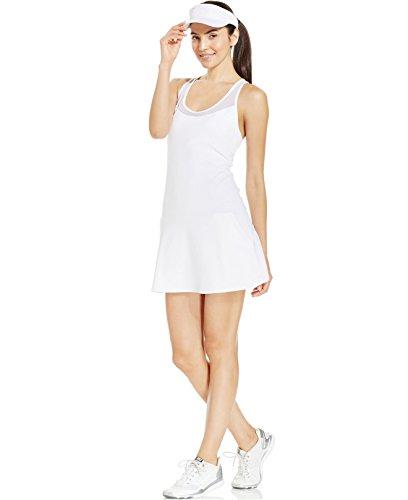 Ideology Women's Sleeveless Racerback Court Dress (Medium, Bright White)