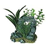 31s9851KnOL. SL160  Exotic Environments Rock Arch with Plants Aquarium Ornament, Small