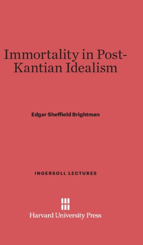 Immortality in Post-Kantian Idealism