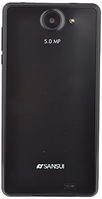 SANSUI MOBILEU50 Dual Sim Mobile Phone with 5 inch Display Screen (Black)