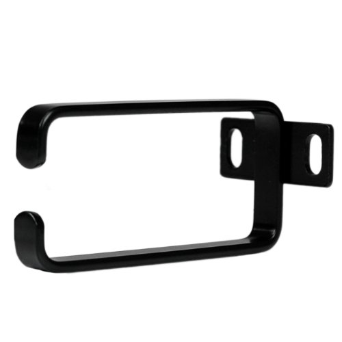Startech.Com 1U Vertical Server Rack Cable Management D-Ring Hook - 1.8X3.9In (4.5X10Cm) Rack Cable Organizer - Rackmount Cable Ring Components Other, Black (Cmhook1Un) front-948286