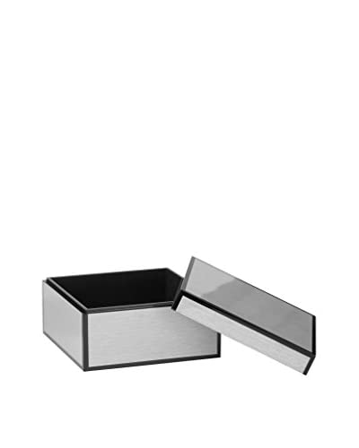 Torre & Tagus Lacquered Silver Grain-Lined Box, Large