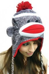 Sock Monkey Knitted Hat