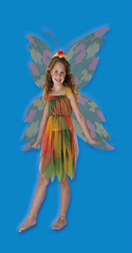Girls Amber Woodland Fairy Kids Child Fancy Dress Party Halloween Costume