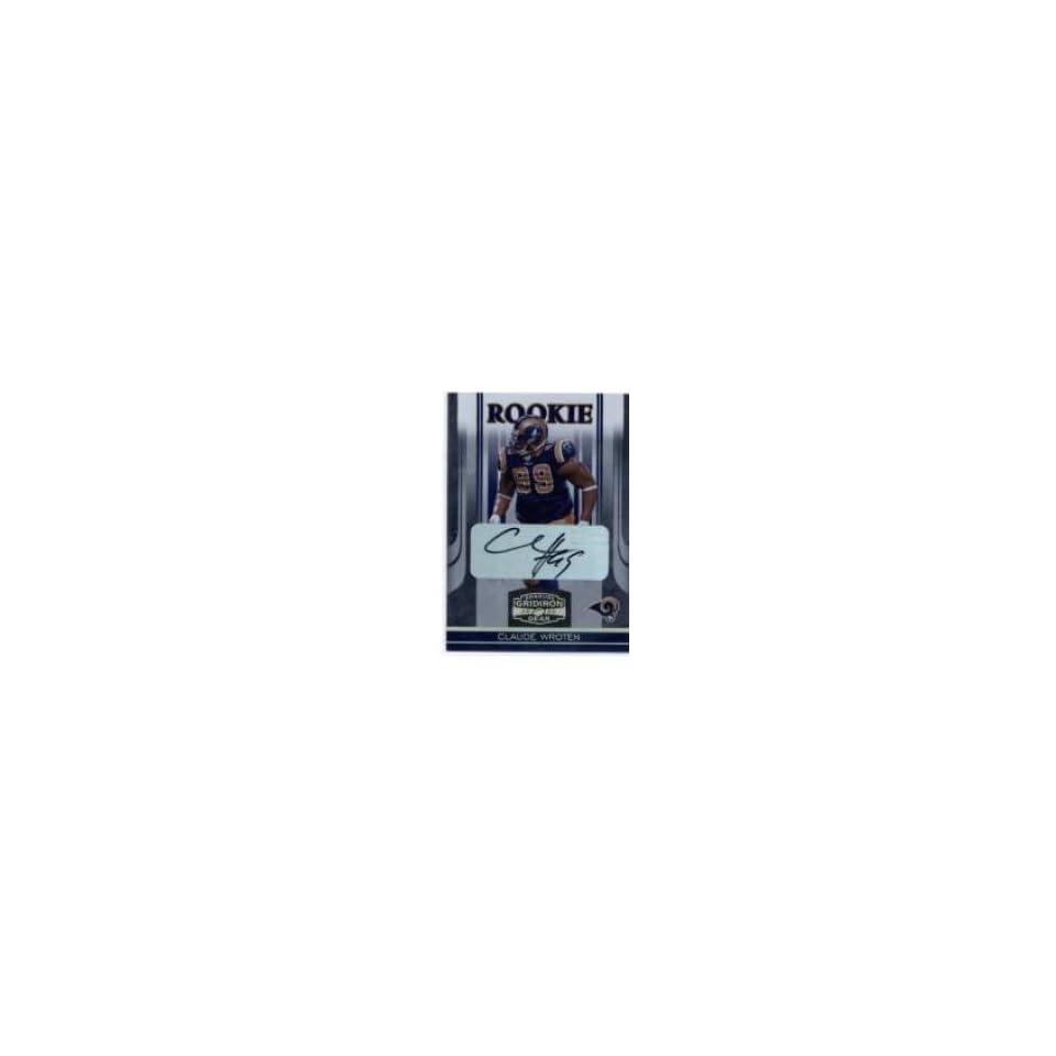 2006 Donruss Gridiron Gear Autographs Gold Holofoil #122 Claude Wroten
