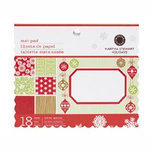 Martha Stewart Crafts Scandinavian Mat Pad, 18 Sheets, 4-3/4-Inch by 6-3/4 Inches