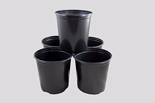 Flower Pots in Bulk 1 Gallon Plastic Nursery Garden Plant Flower Pots, Small Flower Pots, Flower Pots indoor Decorative (25) (10 Gallon Plastic Flower Pots compare prices)