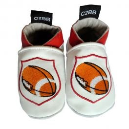 C2BB - Soft leather baby shoes boys | Rugby