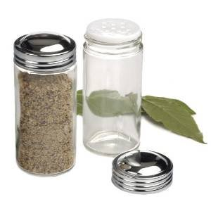 RSVP Clear Glass Spice Jar, Set of 12 (Replacement Spice Rack Jar compare prices)