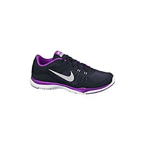 Women's Nike Flex Trainer 5 Training Shoe Black/Purple/Bright Grape/Metallic Silver Size 11 M US