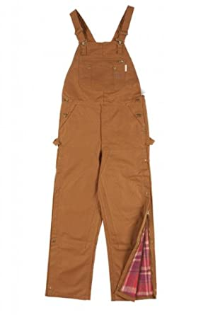 Rasco FR Mens Insulated FR Brown Duck Bib Overall by Rasco FR