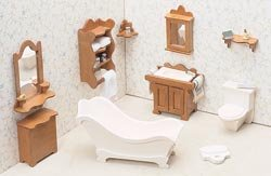 Greenleaf Dollhouse Furniture Kit Bathroom 72G-04; 2 Items/Order