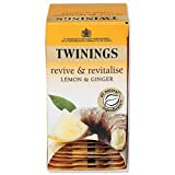 Brand New. Twinings Infusion Tea Bags Individually-wrapped Lemon and Ginger Ref A01202 [Pack 20]