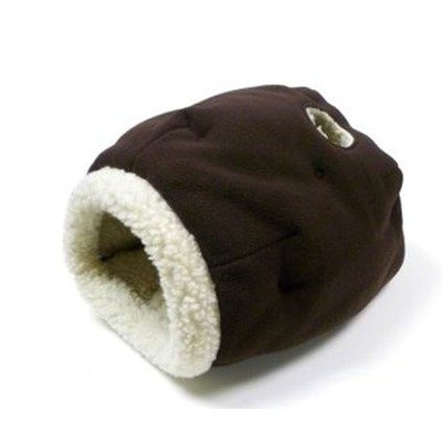 Precision Pet Cat Cave Cat Bed in Chocolate/Sheepskin