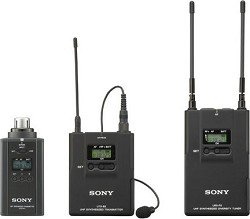 Sony Uwpv6 Lavalier Microphone, Bodypack Transmitter, Plug-On Transmitter And Portable Rx Wireless System, Operating On Tv Channels 30 To 33