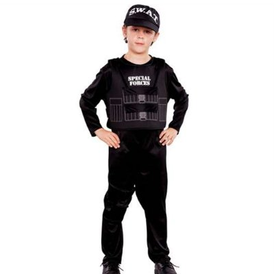 Kids Special Forces Costume with Swat HAT Boys Small 4-6x