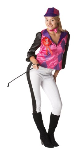 RUBIES FEMALE JOCKEY LADIES ADULTS FANCY DRESS OUTFIT HALLOWEEN PARTY COSTUME