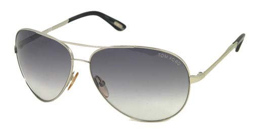 AUTHENTIC TOM FORD SUNGLASSES FT0035 CHARLES SILVER TF 35 753