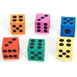 Big Foam Playing Dice (12 Pack)