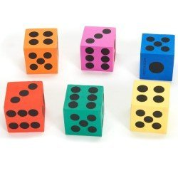 12-pack of Big Foam Playing Dice