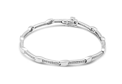 Miore 9ct White Gold 0.25ct Diamond Bracelet of 18cm SA963B