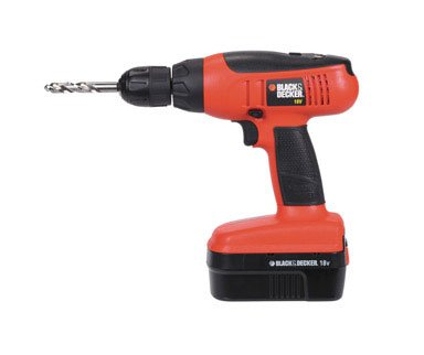 Black & Decker 18v Cordless Drill/Driver Kit (CD1800SKA)