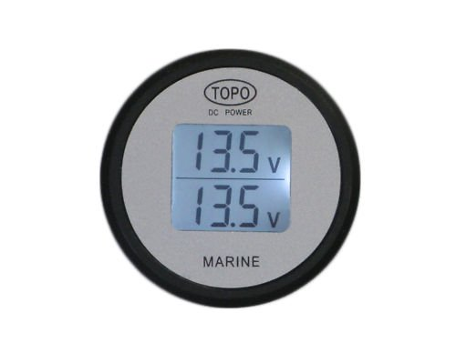 Single Marine Battery Voltage Monitor : Dual battery voltmeter monitor leon gottliebhasdo