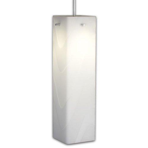 "Houston 1 Light Monopoint Pendant Finish: Matte Chrome, Canopy/Bulb Type: 4"" Kiss Canopy/Led, Glass Color: White"