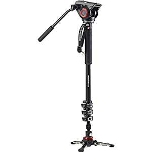 Manfrotto Xpro Aluminum Video Monopod With 500 Series Video Head, Black (MVMXPRO500US)